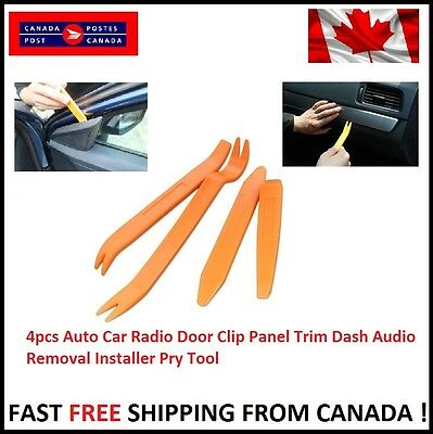 Auto Car Radio Door Clip Panel Trim Dash Audio Removal Installer Pry 4pcs Tool