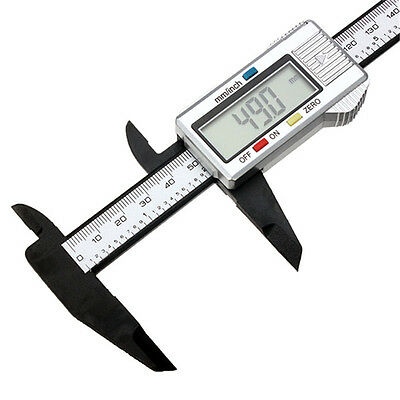 150mm 6 inch Digital LCD Stainless Steel Vernier Caliper Hand Tool Micrometer UK