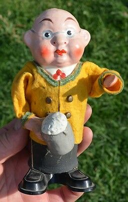 Rare Antique Rolly Toys Beer Drinker Made In Western Germany Vintage