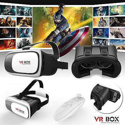 2016 Latest 3D Virtual Reality VR Box 2.0 Glasses Phone Headset Helmet + Remote