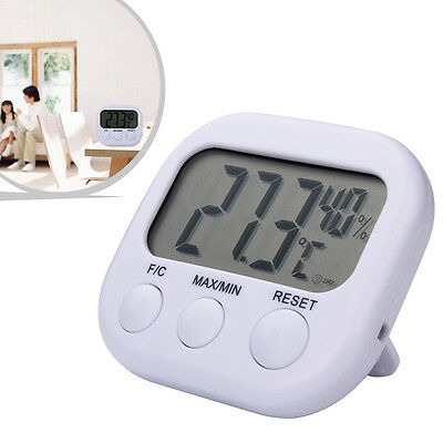 Digital LCD Temperature Thermometer Humidity Hygrometer Clock Meter Indoor TA668
