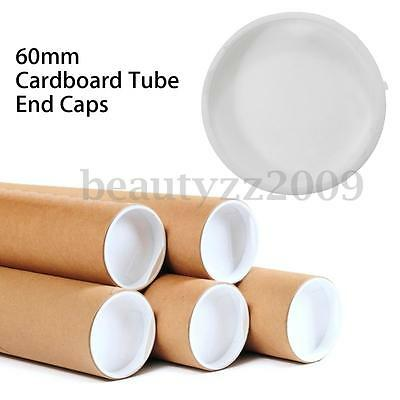 60mm Plastic White End Caps For Postal Mailing Cardboard Tubes