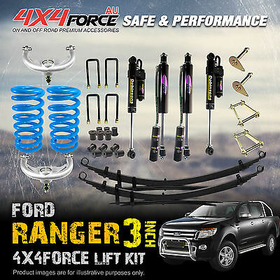 "3"" 4x4force Suspension Lift Kit With Dobinsons Shocks For Ford Ranger 2011-on"