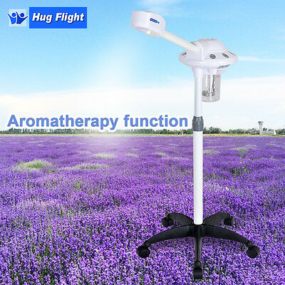Powerful Freestanding Facial Steamer With UV-LIGHT AROMA Therapy Beauty Salon