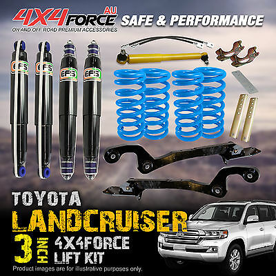 "3"" 4x4force Suspension Lift Kit With EFS Shocks For Landcruiser 105 Series 98 On"