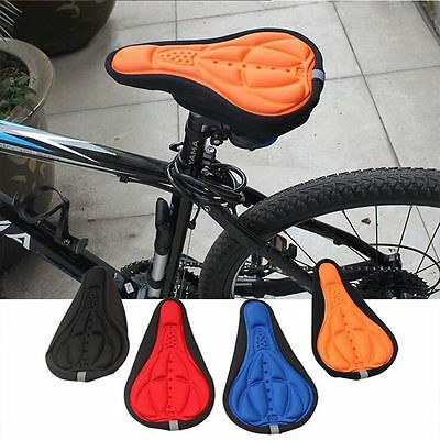 Silicone Comfort Gel Bike Soft Cushion Saddle Seat Cover Cushion Bicycle