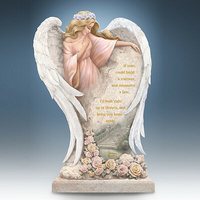 In Loving Memory Angel Statue Thomas Kinkade Bradford Exchange