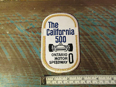 Vintage Ontario Motor Speedway Racing Patch California 500 Indy Nascar Raceway