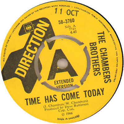 """Chambers Brothers Time Has Come Today - A ... 7""""  record UK promo"""