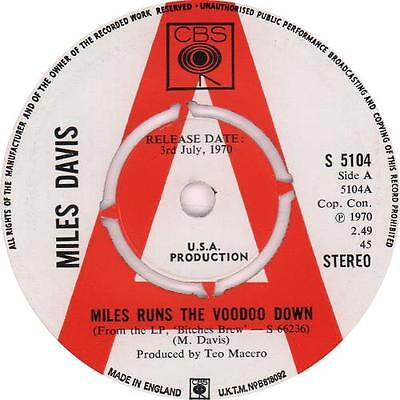 "Miles Davis Miles Runs The Voodoo Down - A... UK 7""  record promo"