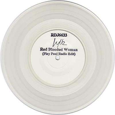"""Kylie Minogue Red Blooded Woman - Clear Vi... 7""""  record UK promo"""