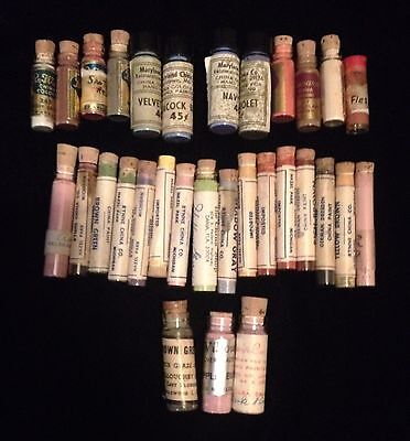31 Vile's Vintage Porcelain China Paint Pigments Glaze Powder mixed lot