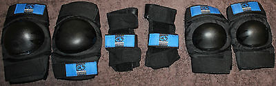 Blade Worx Skate Protective Gear. Knees, Wrists and Elbows. Black. Women's Small