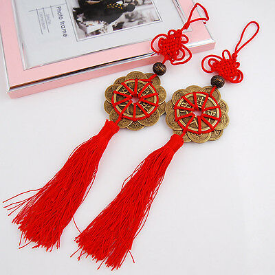 Retro FengShui Lucky Charm Ancient CHINA Coins Coin Prosperity Protection Decor