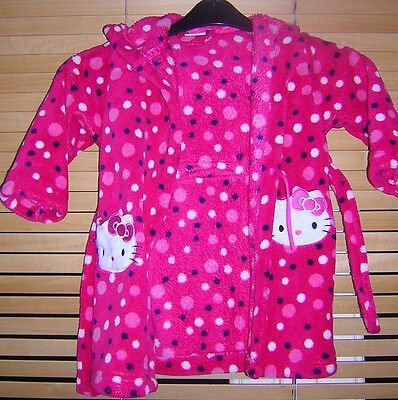 Girls BHS Hello Kitty Dressing Gown Age 2