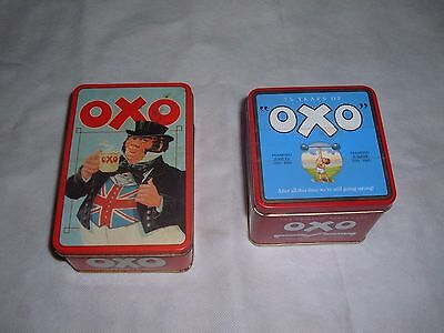 2 x Vintage OXO Tins 1 With 2 boxes Diamond Jubilee 75 Years of OXO 1910-1985