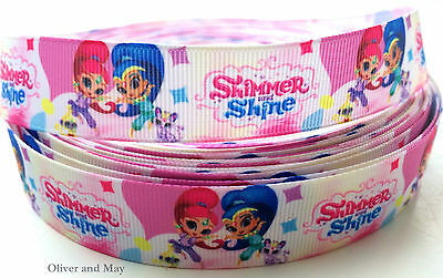 "Metre lots Shimmer and Shine 7/8"" Grosgrain Ribbon 2 Designs International Post"