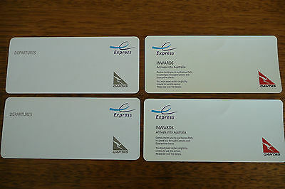 Qantas Express Lane Airport Passes (2 for Departure, 2 for Arrival = 4 in total)