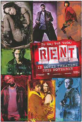 RENT MOVIE POSTER Original DS 27x40 JONATHAN LARSON PLAY Film 2006
