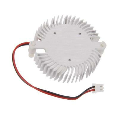 55mm Hole Round Heatsink Computer Laptop VGA Card Cooling Fan Cooler White