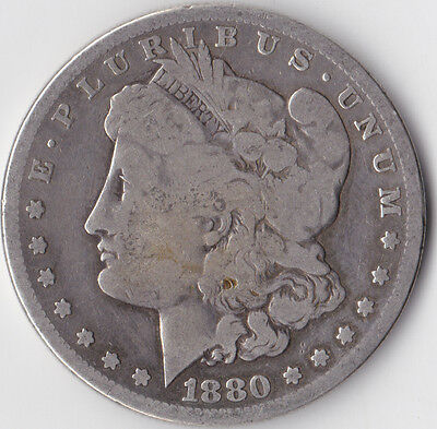 1880 S 'Morgan' Dollar - USA San Francisco Mint - 0.900 Silver*