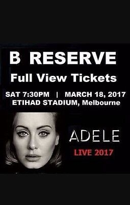 2 x Adele Tickets - MELBOURNE