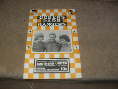 Queens Park Rangers v Southend United 7/1/75 FA CUp 3rd rnd replay