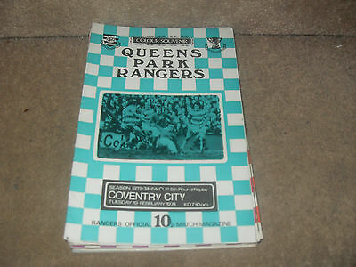 Queens Park Rangers v Coventry City 19/2/74 FA Cup 5th rnd replay