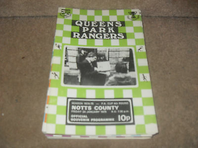 Queens Park Rangers v Notts County 24/1/75 FA Cup 4th rnd