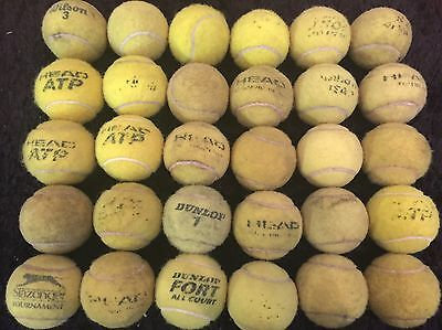 30 x Good Used Tennis Balls - Different Brands