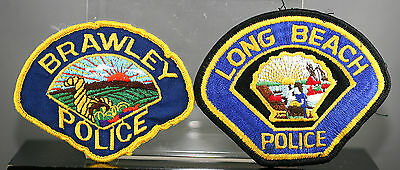 Obsolete California Long Beach & Brawley Police Shoulder Patches