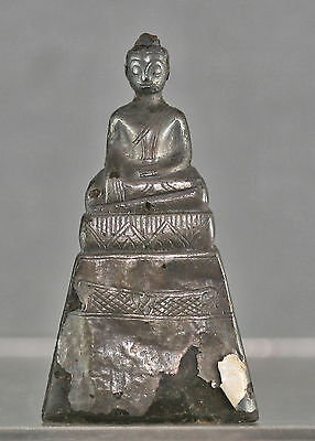 Very Rare Antique Thai Silver Wrapped Buddha Ayuthaya Period Early 1800s