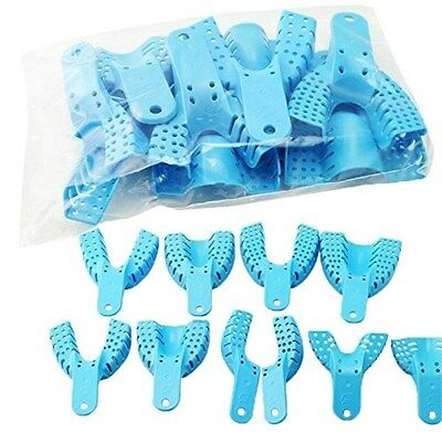 20pcs Light Blue Impression Trays Autoclavable Centra Supply Tools US STOCK