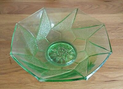green glass art deco dish / bowl