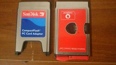 CompactFlash PCMCIA SanDisk CF a PC Card Adapter + Vodafone Mobile Connect Card