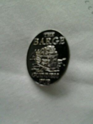 Guinness The Barge ( silver ) pin badge.