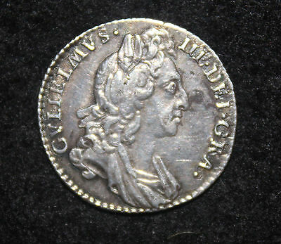 King William III Silver Sixpence 1697 3rd Bust Small Crowns Good Very Fine GVF