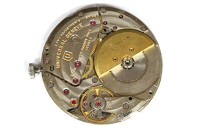 Universal Geneve 25 jewels 2-66 movement for parts/restore