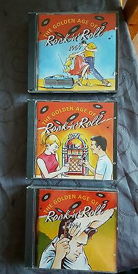 THE GOLDEN AGE OF ROCK & ROLL CD BOXSETS x 3 1959,60 &61