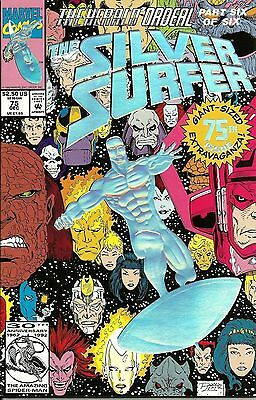 1992 - SILVER SURFER #75 - The HERALD ORDEAL -pt. 6 of 6 - Foil Emboss - NM