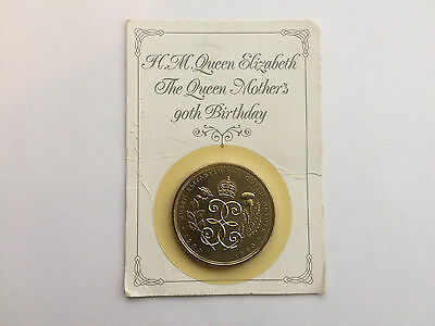 New Royal Mint H.m.queen Elizabeth The Queen Mothers 90Th Birthday £5 Coin