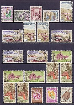 Laos Selection of mint and used stamps issued 1959 to 1982