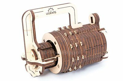 UGEARS Combination Lock Mechanical 3D Puzzle DIY Wooden Construction Set