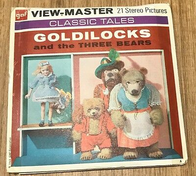 Vintage View Master Slides -Goldilocks And The Three Bears