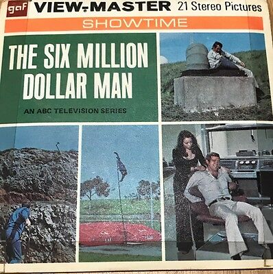 Vintage View Master Slides/The Six Million Dollar Man