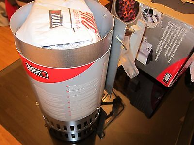 Weber Chimney Starter 17631/101 BBQ Charcoal Grill NEW Accessory Camping Lighter
