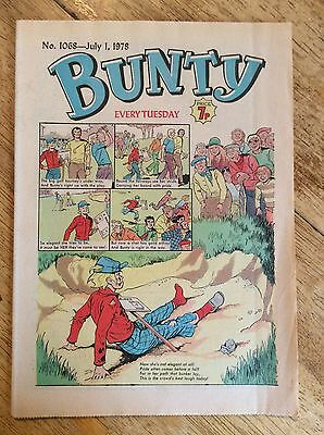 Bunty Girls Comic - Issue No 1068 - July 1st 1978