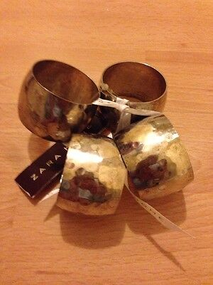 SET OF 4 SILVER PLATED NAPKIN RINGS IDEAL FOR CHRISTMAS DINNER Zara Home