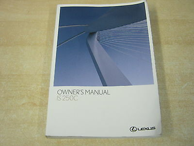 Lexus Is 250C 250 C  Handbook Owners Manual 2007-2011