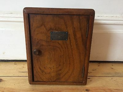 1940s Wooden Pipe Smoking Cabinet Box Storage Lovely